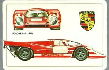 Carte Porsche 917 racing car course automobile Le Mans Sport Proto Trading card