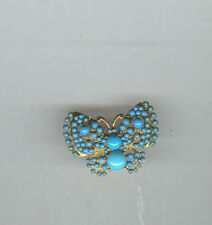 KENNETH LANE stunning TURQOUSIE COLOR BEADED BUTTERFLY RING