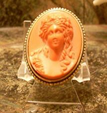 Vintage Estee Lauder Solid Perfume Red Christmas Cameo 1983