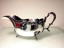 Antique/Vintage English Silver Plate Clawfoot Gravy Sauce Boat Maked
