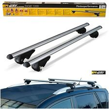 M-Way 90kg Lockable Aluminium Roof Rack Rail Bars for Mazda 626 Break (88-97)