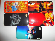 5 pcs apple iphone 4th, 4s  hard case, dragon ball z, iron man , transformers