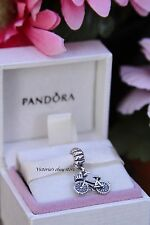 Authentic Pandora Sterling Silver BICYCLE Bike Dangle Charm 791266 RETIRED