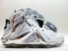 NIKE LEBRON XII ELITE SP/PIGALLE WHITE/PLATINUM SIZE MEN'S 9 [806951-100]