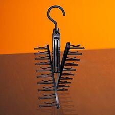 20 Ties Closet Organizer Necktie Rack Storage Holder Tie Hanger, Black