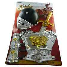 Kids Sword Knight Armour Set Helmet Sword Knight Toy Set & Halloween Accessory