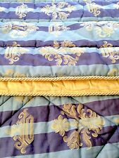 FRETTE Royal Collection Gold and Blue Quilted Bedspread (retail £2,700)