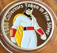 # Space Ghost Collectable Challenge Coin Finished Fine Silver .999 1966 Cartoon