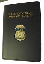 Homeland Security Investigation Special Agent ID Case w/Special Agent Mini Badge