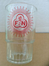 VINTAGE F&N RED LION Vertical Ribbed Grip Bottom Third Glass Rare
