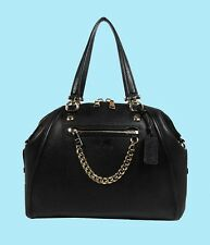 COACH 34362 PRAIRIE Black Pebble Leather Satchel Shoulder Bag Msrp $450.00