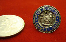 """Masonic Auld Sterling Grand Lodge of Ohio """"A Mason 25 Yrs"""" Lapel Pinback"""
