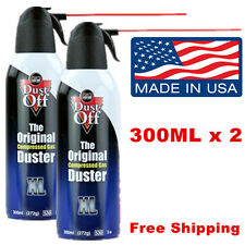 Notebook Laptop PC Keyboard Cleaner Dust-Off Compressed Air Duster 2 Pack