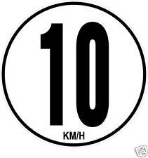 1 Limitation de Vitesse dix 10 KM/H adhésif.