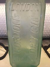 "Antique "" Gordon's Dry Gin, London England "" Bottle"