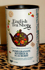ENGLISH TEA SHOP POMEGRANATE ROOIBOS & ACAI BERRY CADDY 60 TEA BAG CAFFEINE FREE