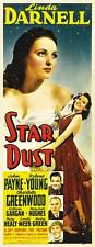 STAR DUST Movie POSTER 14x36 Insert Linda Darnell John Payne Roland Young