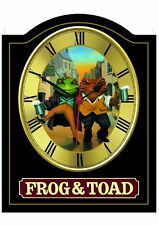 FROG & TOAD Pub Sign WALL CLOCK for your Home Bar, Man Cave or Pub Shed