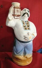 Vintage Ukrainian Vodka decanter Cossack with barrel figurine Russian USSR