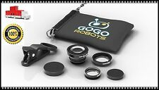 GoGo Photo iPhone Camera Lens3-In-1 Wide-Angle,Macro,Fisheye Lens iPhone Android