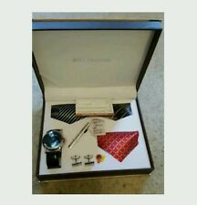 Men's New NY London wrist watch tie cufflinks  gift set Christmas special gift