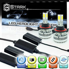 LED 90W 9000LM 6000K 6K White 3-Sided Headlight Kit Dual Hi Lo Bulbs - H13 9008