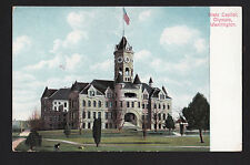 1909 AYPE exposition dog at State Capitol building Olympia Washington postcard