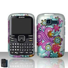 Purple Blue Flower Case Cover Kyocera Loft/Torino S2300