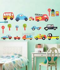 Police Car Fire Engine Bus Wall Stickers Art Nursery Play room LD1144 UK STOCK