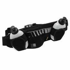 Running/Jogging Audio/iPod/MP3/Mobile/iPhone Water 2 Bottle Hydration Belt Black