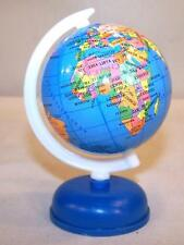 4 SMALL WORLD GLOBES ON STAND fund raiser earth globe map countrys maps new
