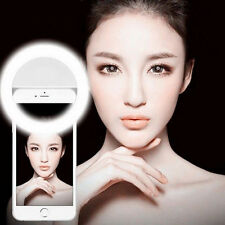 BLACK Selfie LED Ring Universal Flash Light Camera Photography F/ iPhone Android