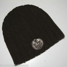 Edmonton Oilers Knit Winter Hat Beanie Tuque Hockey Black Men's Youth's