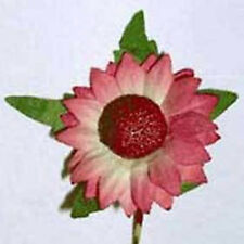 Pack of 10  DUSKY PINK DAISIES Head Diam 3cm  Mulberry Paper Flowers for Crafts