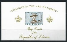 LIBERIA 1961 BLOCK 22 IMPERF ** MNH BOY SCOUTS AIR MAIL