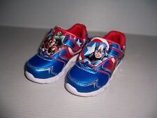 MARVEL CAPTAIN AMERICA TODDLER BOY'S LIGHT UP JOGGER SHOES SIZE 9 REVERSIBLE NEW