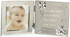 Engraved Baby Data Photo Frame Personalised Christening - Baptism  Gift
