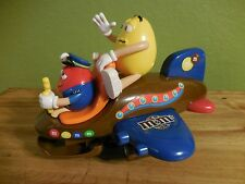 M&M's Airplane Candy Dispenser Yellow & Red Characters Sound & Lights USED
