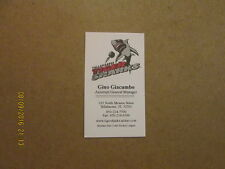 ECHL Tallahassee Tiger Sharks Vintage Business Card