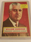 1956 Topps #1 Will Harridge PRESIDENT : AMERICAN LEAGUE