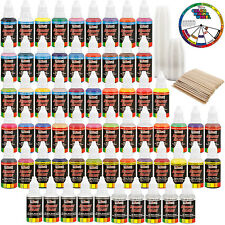 U.S. Art Supply® 54 Color 1oz Ultimate Airbrush Acrylic Paint Set