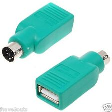 USB Female to PS/2 Male Cable Plug Adapter Computer Mouse Joystick PS2 Convertor