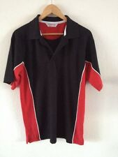 Gamegear Cotton/Polyester Polo Top T Shirt Size M Black & Red  R10090