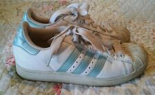 Old School Vintage Size 8 Adidas Sneakers in Iridescent Baby Blue