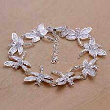 GIFT New Womens Chic Silver Chain Dragonflies Lobster Clasp Bracelet Jewelry