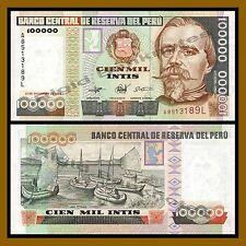 Peru 100000 Intis, 1989 P-145 Unc