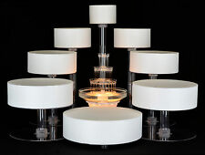 8 TIER CASCADE WEDDING CAKE STAND CUPCAKE STAND WITH FOUNTAIN (STYLE # 9)