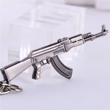 "2.56"" CF Assault Rifles Mini Gun Military Model Metal Key Chain Ring Pendant New"