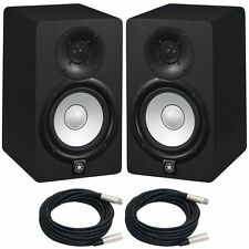 "YAMAHA HS5 POWERED STUDIO MONITOR   PAIR  , 5"", 2-Way, 70W  Free Cables!"