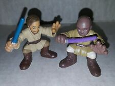 Star Wars Galactic Heroes Mace Windu & Obi Wan Action Figures Hasbro Loose